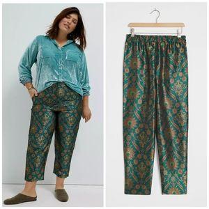 Anthropologie Maeve jacquard pants size 3X